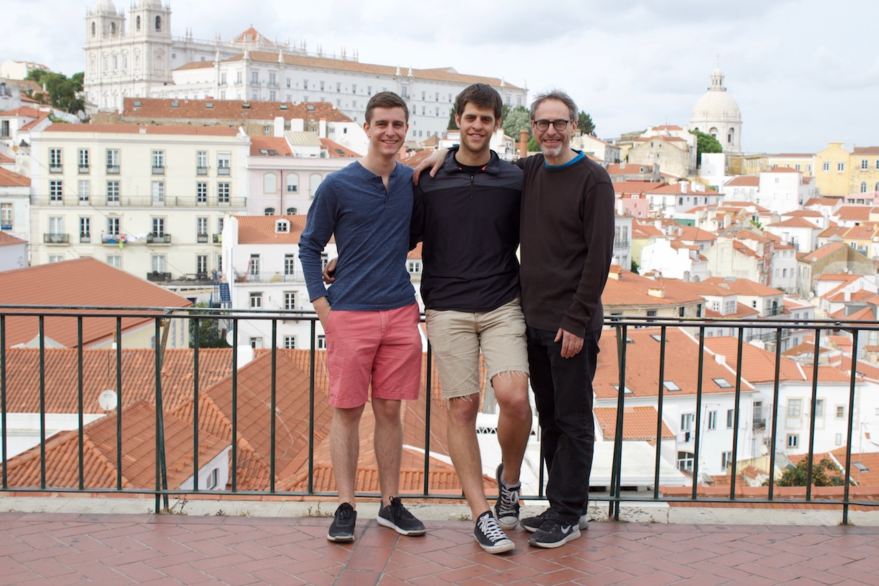 Lisbon with Dad and Noah
